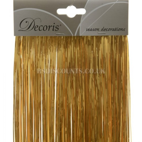 Decoris Ocre Gold Coloured Shiny Lametta Tinsel