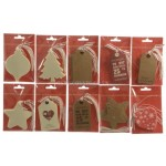 Decoris Classic Christmas Gift Tags 10 Different Design Pack of 10