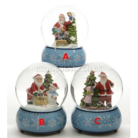 Lumineo LED Santa In a Snow Globe 3 Different Designs