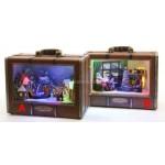 Lumineo LED Suitcase Christmas Scene With Mechanical Display