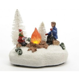 Lumineo LED Miniature Sat Around The Fire Scene
