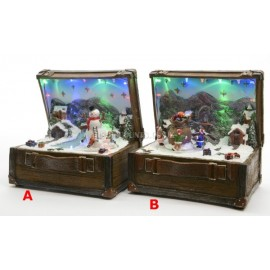 Lumineo LED Mechanical Christmas Suitcase