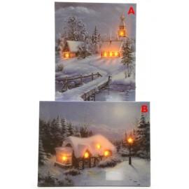 Lumineo LED Winter Scene Canvas