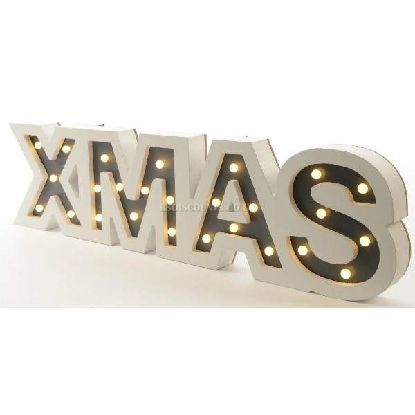 Lumineo Wooden LED Xmas Frame