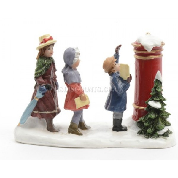 Lumineo Miniature Post Box with Figures