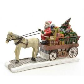 Lumineo Miniature Santa's Horse and Carriage