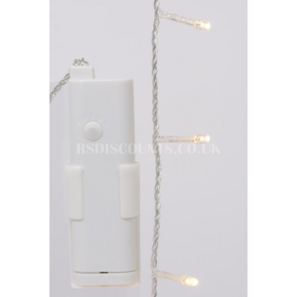 Lumineo Durawise Warm White 96 LED 7.1m Twinkle Lights Transparent Cable Indoor or Outdoor Use