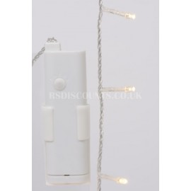 Lumineo Durawise Warm White 192 LED 14.3m Twinkle Lights Transparent Cable Indoor or Outdoor Use