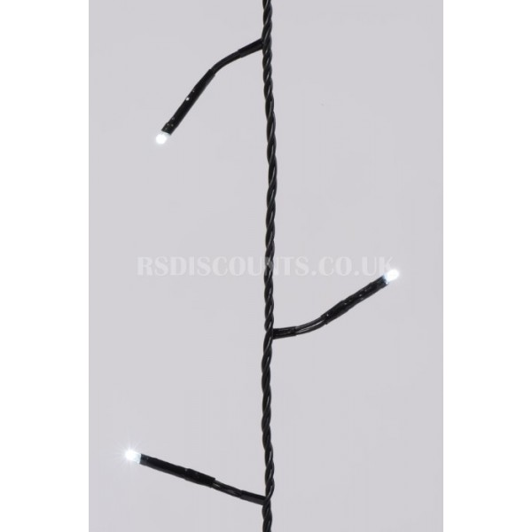 Lumineo Cool White 720 LED Twinkle Lights 54m Black Cable Indoor or Outdoor Use
