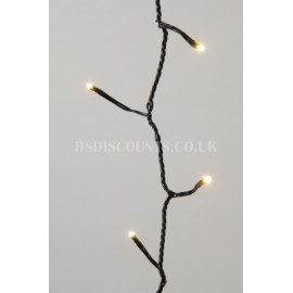 Lumineo Warm White 80 LED Twinkle Lights 6m Green Cable Indoor or Outdoor Use