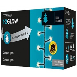 Lumineo 1-2 Glow 8 Function Warm White LED Compact Twinkle Lights