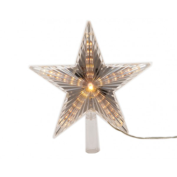 Lumineo Tree Top Star with Warm White LED's
