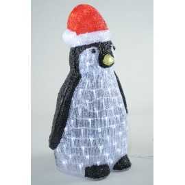 Lumineo Acrylic Cool White LED Lit Penguin Outdoor Light
