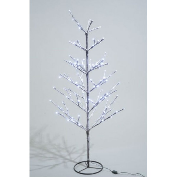 Lumineo 90cm Cool White LED Pre lit Outdoor Snowy Christmas Tree