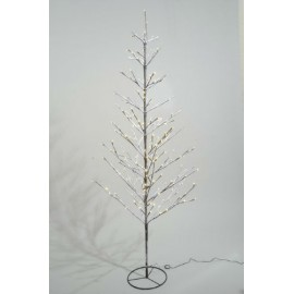 Lumineo 180cm Warm White LED Pre lit Outdoor Snowy Christmas Tree