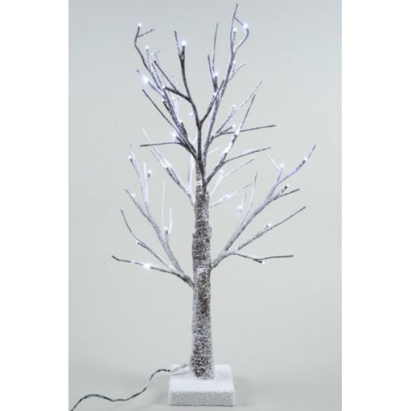 Lumineo 60cm LED Prelit Snowy Paper Christmas Tree SUITABLE FOR OUTDOOR USE