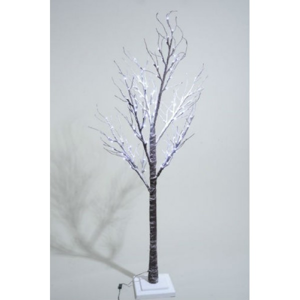 Lumineo 125cm Cool White LED Prelit Snowy Paper Christmas Tree SUITABLE FOR OUTDOOR USE
