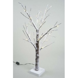 Lumineo Warm White 36 LED 60cm Snowy Christmas Tree Indoor or Outdoor Use