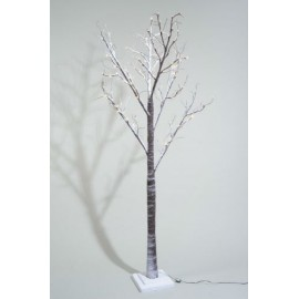 Lumineo 200cm Warm White LED Prelit Snowy Paper Christmas Tree