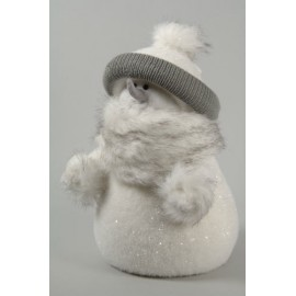 Deco 26cm Flocked Snowman