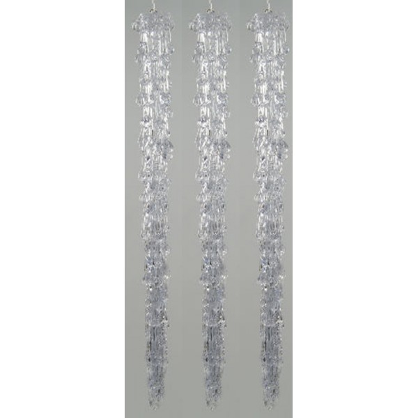 Lumineo Cool White 12 LED Icicle Lights Indoor or Outdoor Use