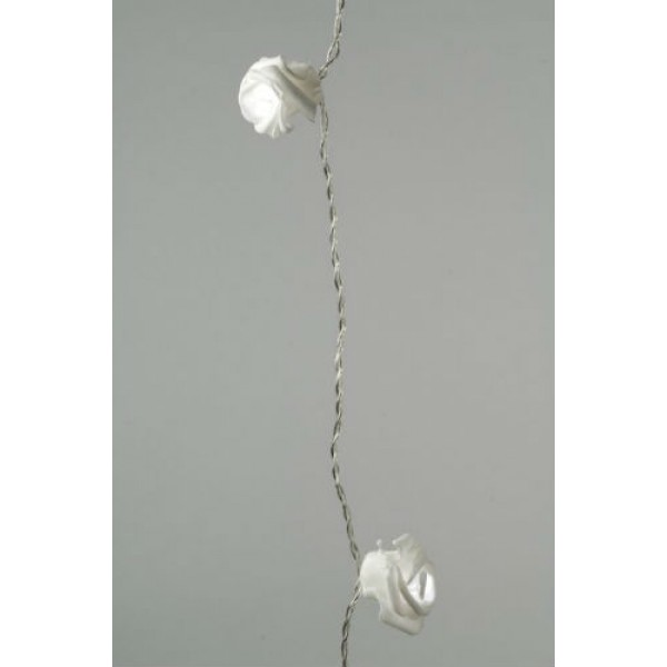 Lumineo 32 Cool White LED Rose Garland
