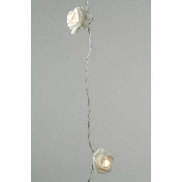 Lumineo 32 Warm White LED Rose Garland