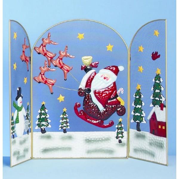 Santa on Sleigh Fireguard