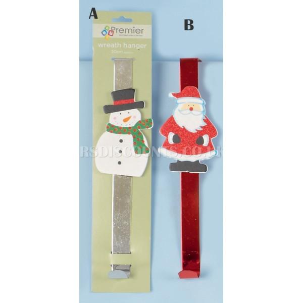 Premier Santa or Snowman Wreath Hangers
