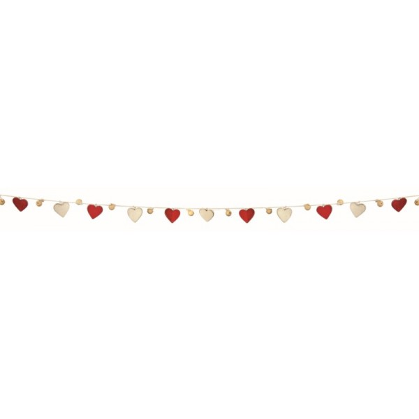 Premier 155cm Wooden Heart Garland Decoration