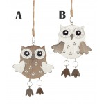 Premier 12cm Hanging Owl Ornament
