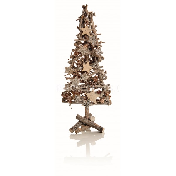 Premier 40cm Sparkle Twig Tree with Cones
