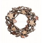 Premier 22cm Sparkle Twig Wreath with Cones