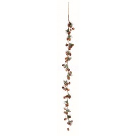 Premier 1.2m Natural Cone and Berry Garland