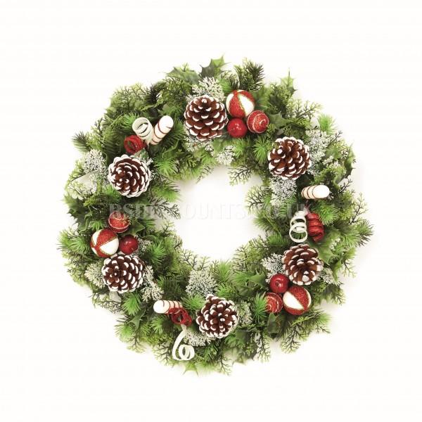 Premier 45cm Plastic Decorated Wreath