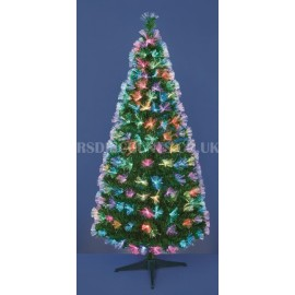 Premier 80cm Multi Coloured Fibre Optic and LED Christmas Tree