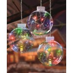 Premier Set of Hanging Multi Action Pin-wire Globe Lights