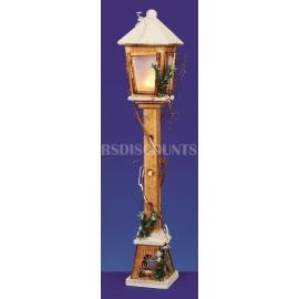 Premier Wooden Illuminated Lamp Post 80cm Warm White