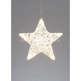 Premier Woven Paper Star with 10 Warm White LEDs