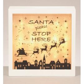 Premier LED Santa Stop Here Sign