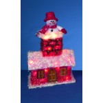 Snowman In Tinsel House Decoration