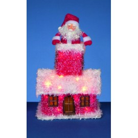 Santa In Tinsel House Decoration