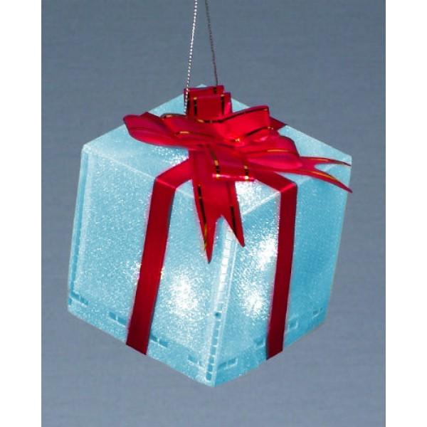 Premier 7.5cm LED Colour change gift box decoration
