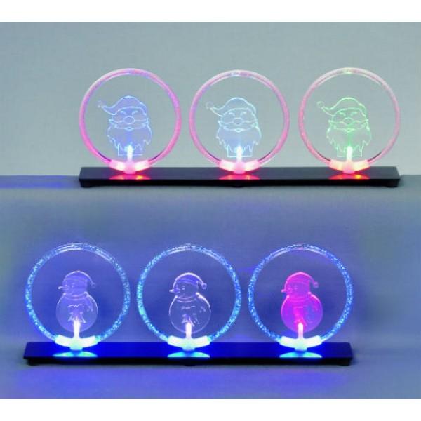 LED Colour Change Santa in Bubble Ring