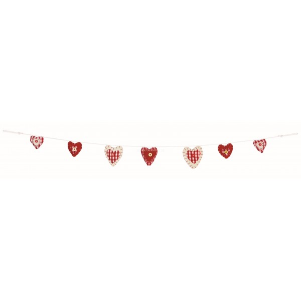 Premier Red and White Heart Garland