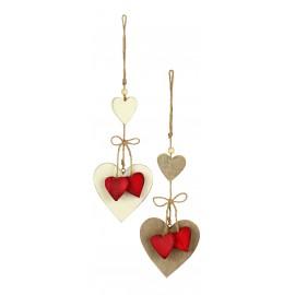 Premier 30cm Hanging Wooden Hearts