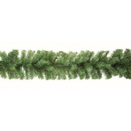 Premier 2.7m Plain Green Christmas Garland