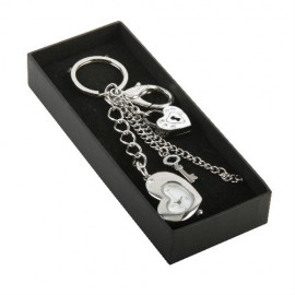 Padlock & Key Bag Charm Keyring & Watch