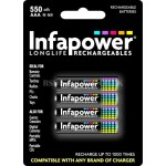 Infapower AAA 550mAh Longlife Rechargeable Batteries  4 Pack
