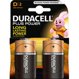 Duracell Power Plus LR20 MN1300 D Size Batteries Twin Pack